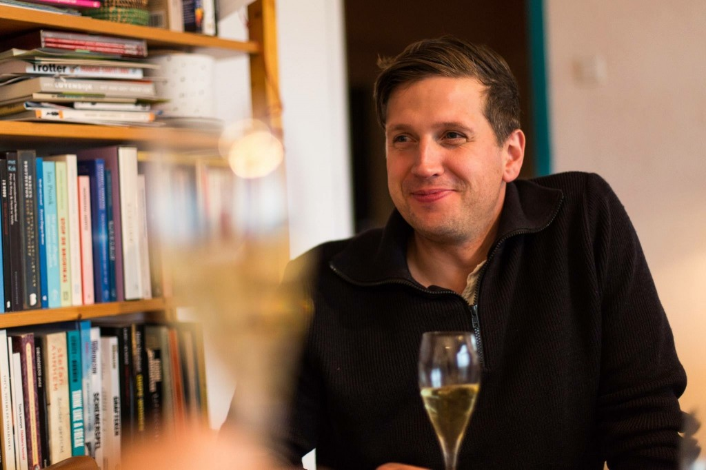 Nicholas Livingston tasting Champagne with the Rommens of Amsterdam