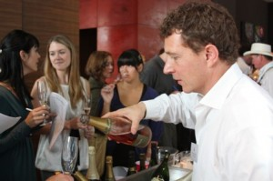 Gaston Chiquet pouring his wines for the sommeliers of San Francisco.