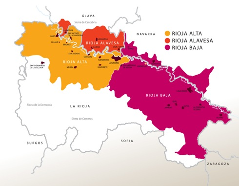 Map of Rioja regions, from the amazing WineFolly website