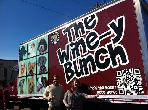 Wine-y bunch truck